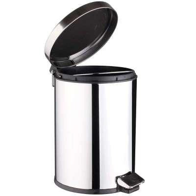 世家脚踏式不锈钢垃圾桶(5l)