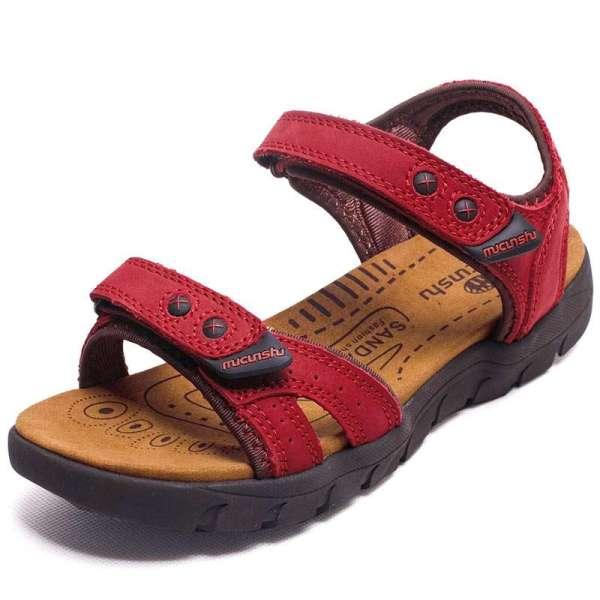 【木村树(mucunshu)凉鞋】木村树女鞋牛皮凉鞋沙滩鞋