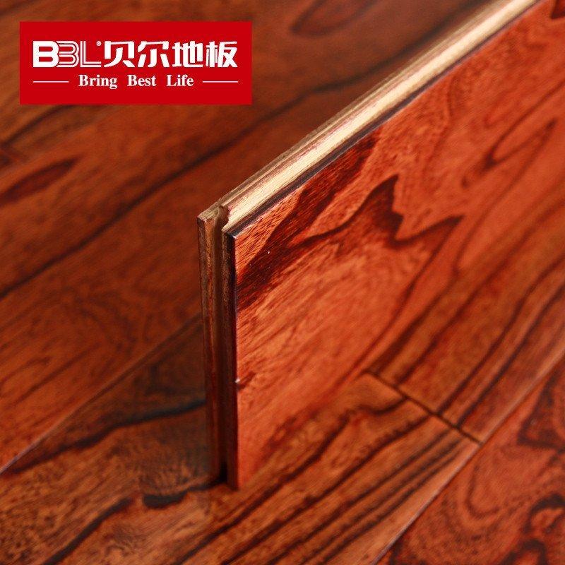 贝尔地板 实木复合地板 15mm 地暖专用 仿古浮雕 写意春秋