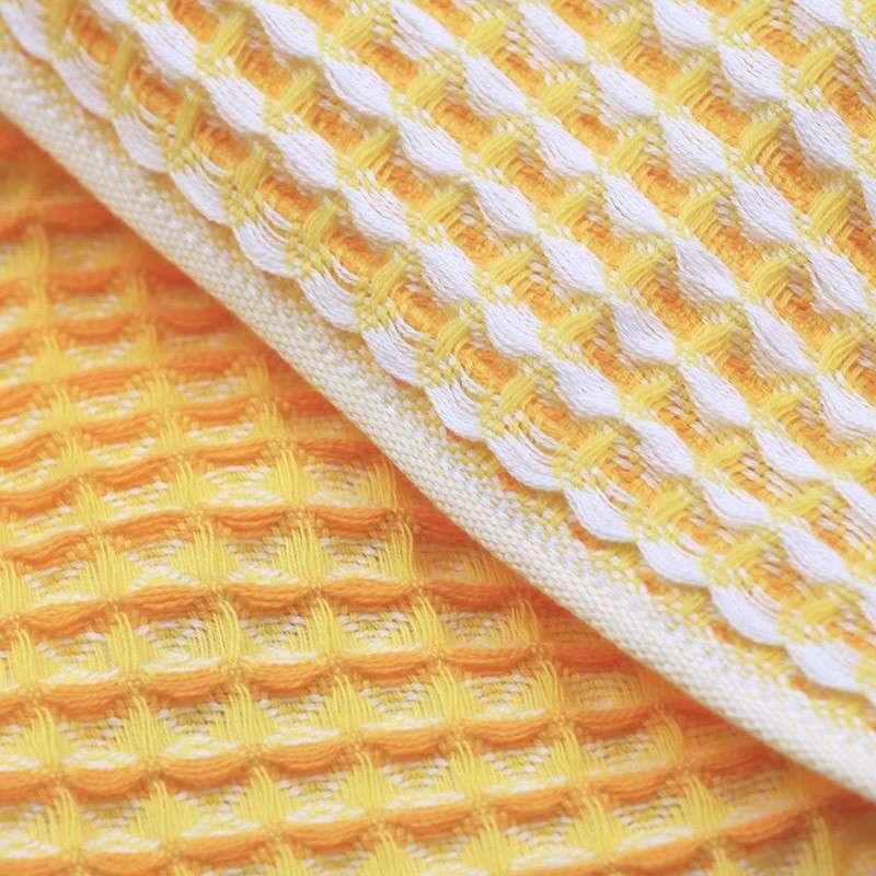 内野uchino系列小蜜蜂蜂巢华夫格面巾 纯棉毛巾 柔软细腻 吸水