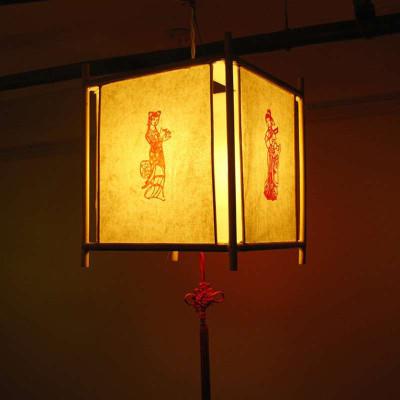传统灯笼diy手工材料包 亲子作业制作 中秋节白面手绘手提纸花灯