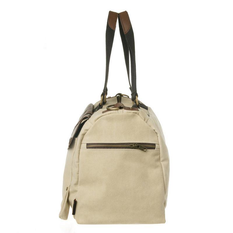 豆鼓眼 品牌时尚旅行包商务出差手提包男款单肩包男士帆布包 灰6230