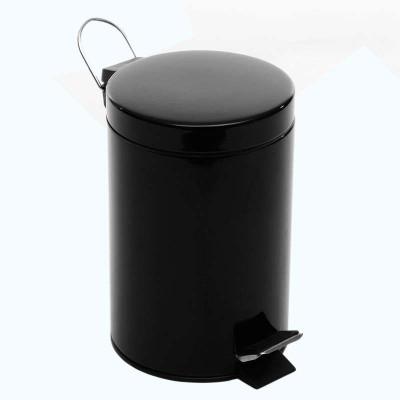3l亮光时尚欧式圆形家用脚踏垃圾桶