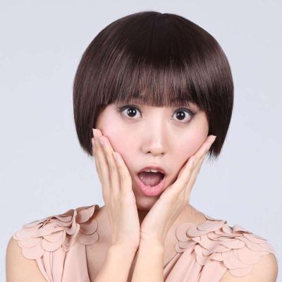 娇滴假发女短直发bobo头发型高温丝甜美可爱型齐刘海蓬松短发 s-0037