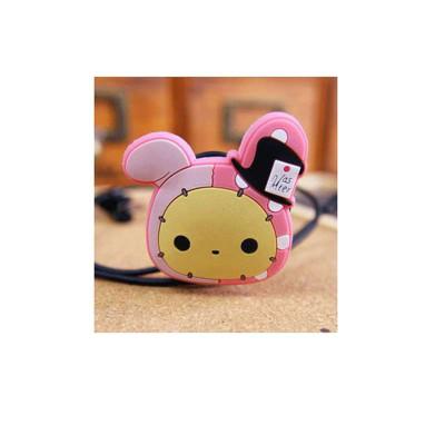 淘乐士创意卡通可爱忧伤兔子夹子耳机绕线器mp3耳机集线器理线器 3个