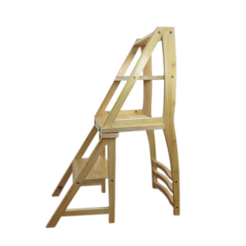 自制梯凳-鲁班板凳设计图/椅子梯子两用制作图/椅子变