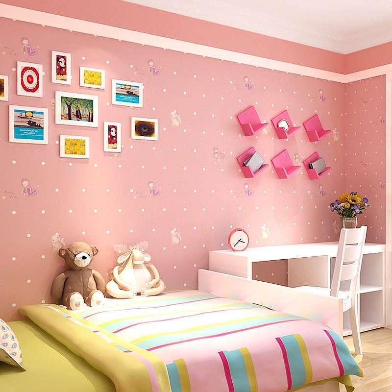 大女孩房间墙布装修效果图