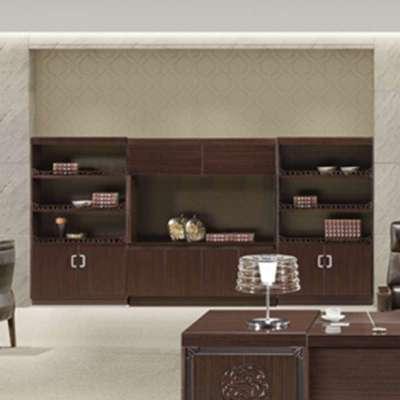 实木贴皮文件柜 办公家具柜子 储物柜书柜hi-pm9n08 紫檀木色