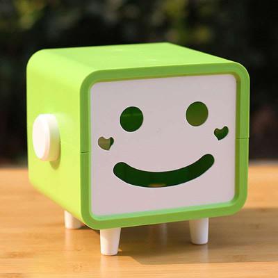 可爱笑脸纸巾盒 创意纸巾抽