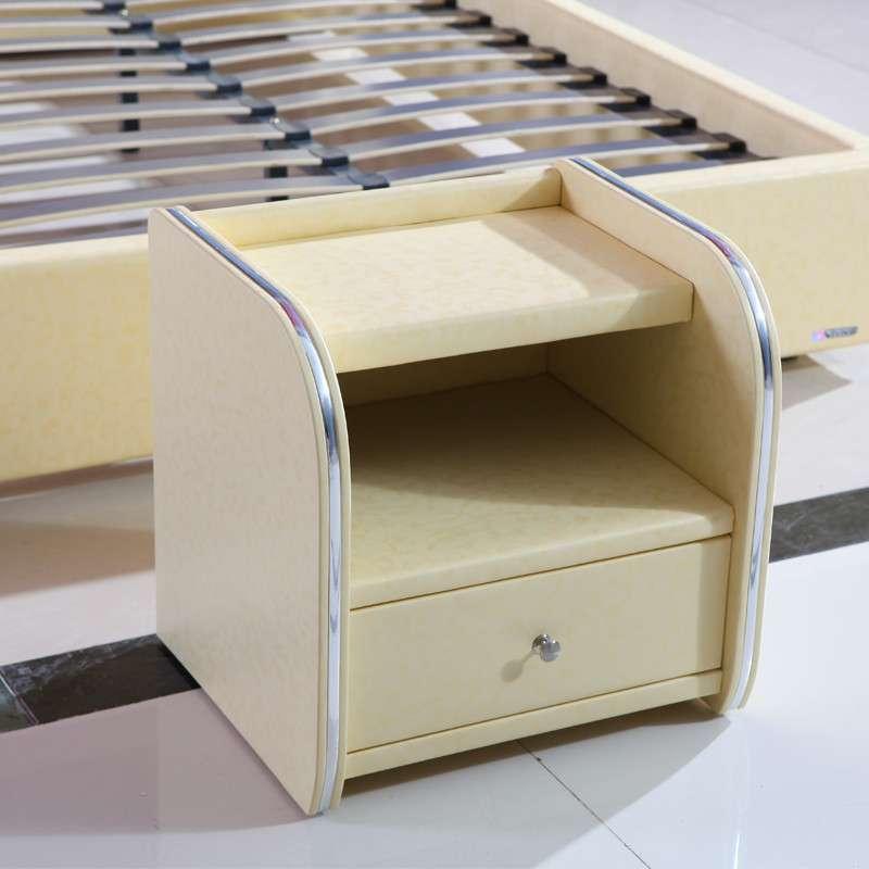 双虎家私 欧式皮艺四件套 软床 床头柜 卧室家具组合套装rc002 1.