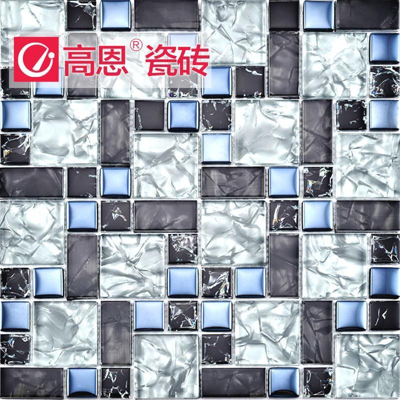 卫生间花纹玻璃马赛克效果图