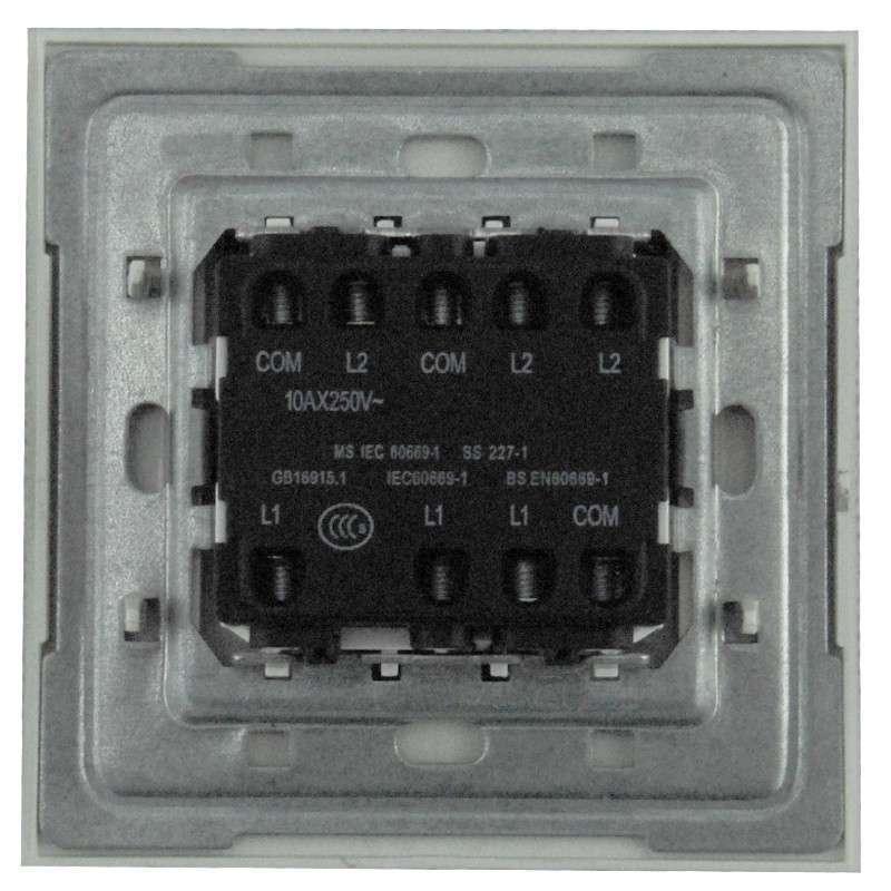 abb开关插座面板abb开关/超薄由艺珍珠金 三开双控带灯带线au16653