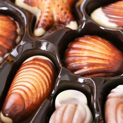 上海特产 梁丰巧克力 蒙特莎海洋贝壳形牛奶巧克力115g/盒