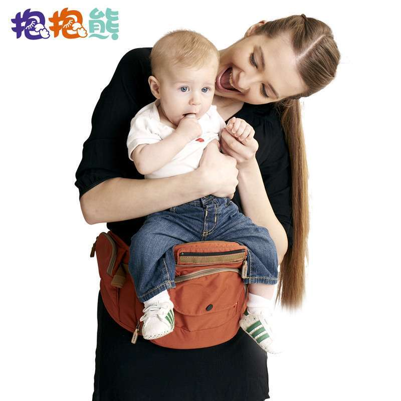 抱抱熊腰凳 抱婴腰凳婴儿背带腰凳宝宝双肩腰凳多