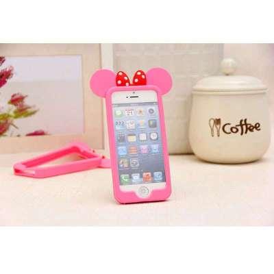 pandaoo新款可爱米奇iphone5s卡通硅胶软壳边框手机壳