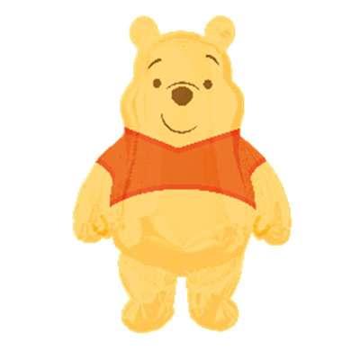 孩派highparty/生日用品/派对装饰/维尼熊人形铝箔气球 大号25325