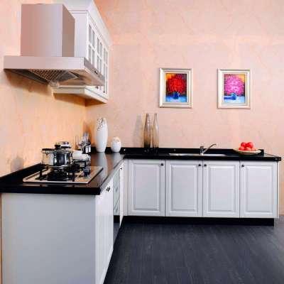 lesso领尚橱柜 整体橱柜 欧式现代 吸塑门板 石英石 整体厨房定制厨柜