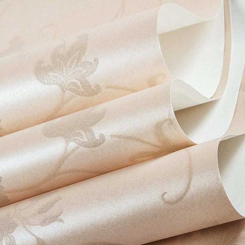 米素无纺布壁纸 卧室客厅欧式田园墙纸