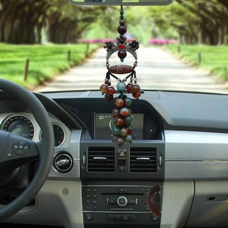 大有 汽车挂件 玛瑙汽车挂饰 车内装饰品后视镜吊坠用品 开光保平安