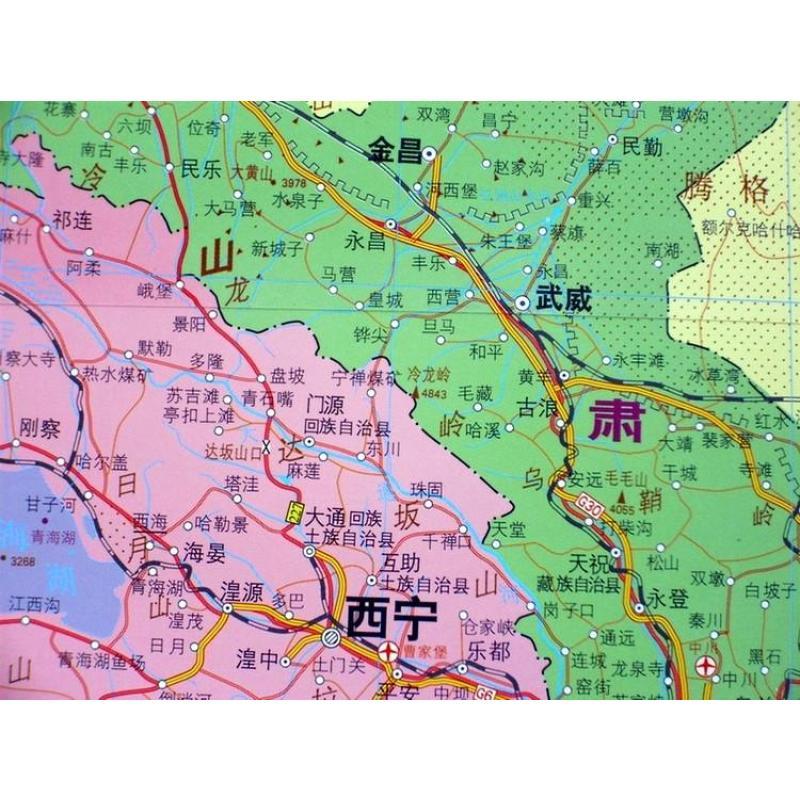 中国地图挂图最大张中国地图 2012年最新 3米*2.2米精品卷轴亚膜防水