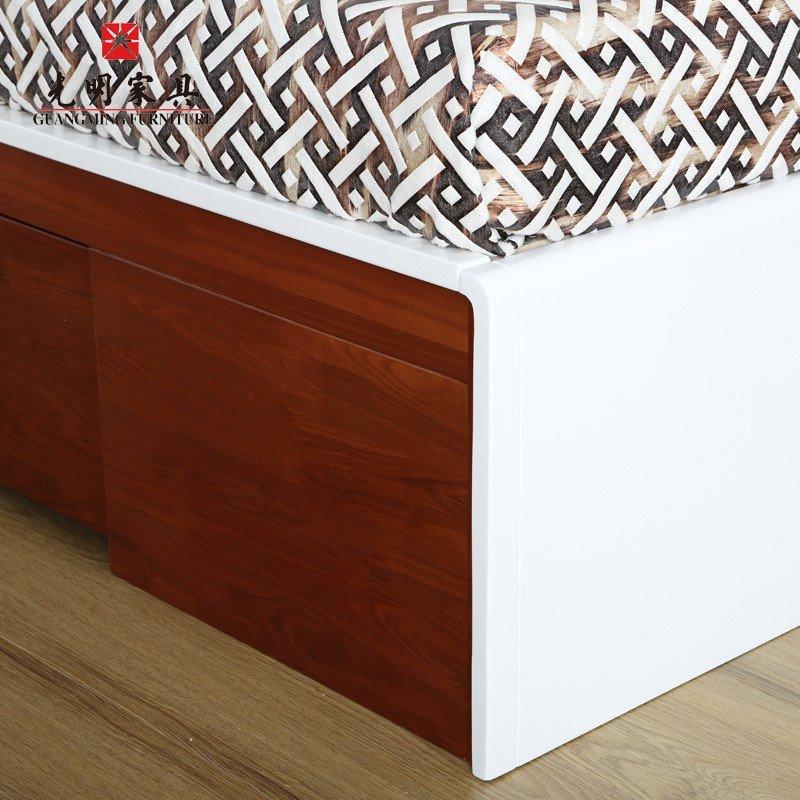 光明家具·风尚系列 全实木大床 1.8米*2米双人床 水曲柳.
