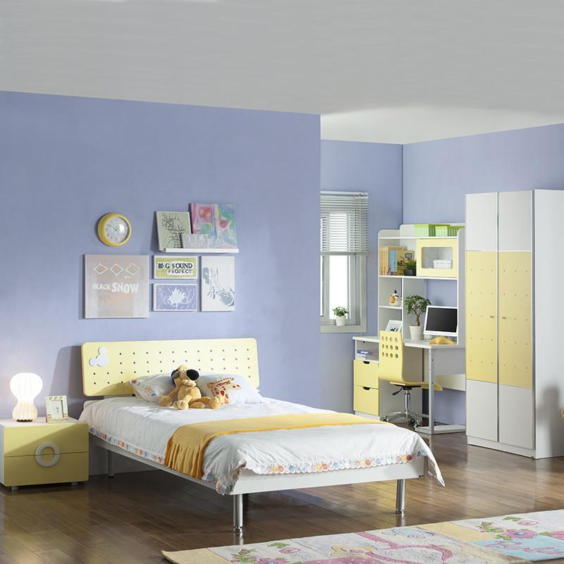 多喜爱儿童家具 儿童床组合套房 男孩/女孩家具 单人床排骨架床卧室组