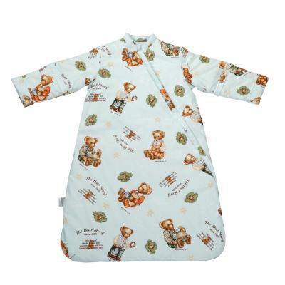 凯芙兰 婴儿睡袋秋冬款纯棉花宝宝睡袋儿童防踢被可脱胆特价包邮 小熊