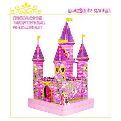 儿童手工制作diy创意玩具eva粘帖模型——城堡宫殿