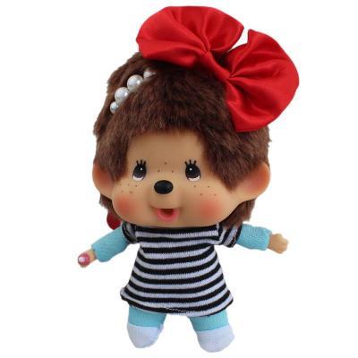蒙奇奇(mengqiqi) 15cm红色蝴蝶结 毛绒玩具公仔创意娃娃玩偶 可爱
