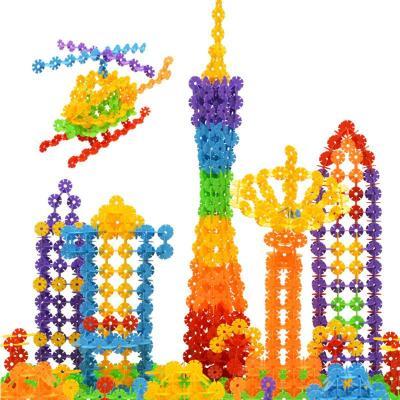 7色雪花片,教孩子拼搭数字,字母,建筑,汽车,动物等造型.