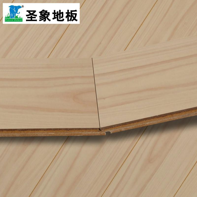 【热销】圣象强化复合木地板gt7121浅色枫木现代简约