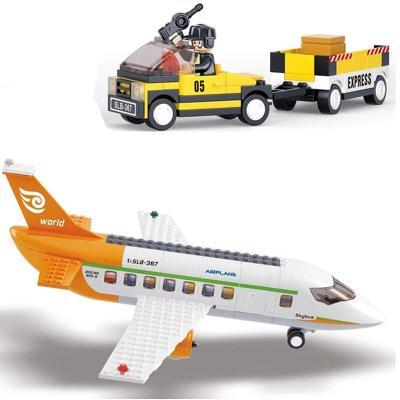 小鲁班城市系列 国际飞机场乐高式拼装积木 塑料拼插益智玩具 678片小