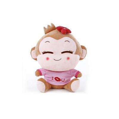 安吉宝贝 可爱悠嘻猴情侣笑脸猴公仔毛绒玩具婚庆压床