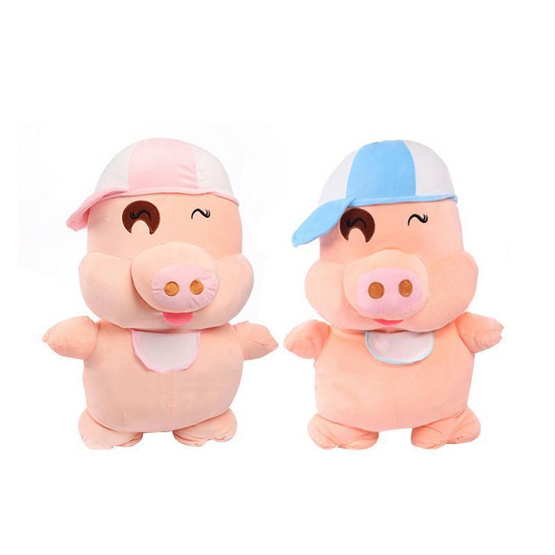 安吉宝贝 可爱麦兜猪公仔大号猪猪玩偶布娃娃毛绒玩具生日礼物 60cm蓝