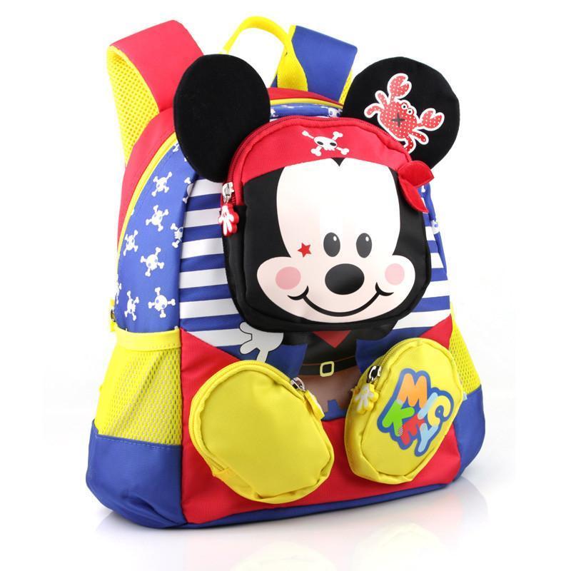 迪士尼米奇儿童书包男童幼儿园小班女童宝宝中班可爱大班双肩背包