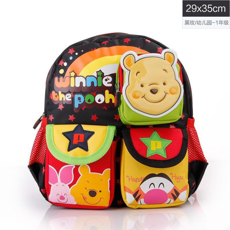 迪士尼幼儿书包宝宝小书包可爱1-3-6岁卡通婴儿双肩背包男童女童 黑色