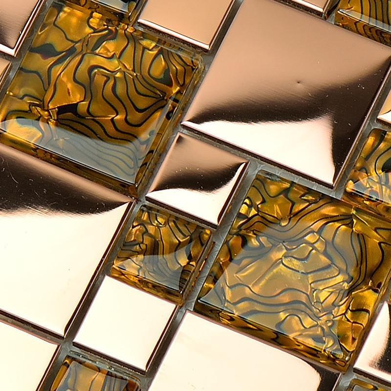 镜面马赛克拼花欧式客厅电视柜背景墙瓷砖贴siisf01