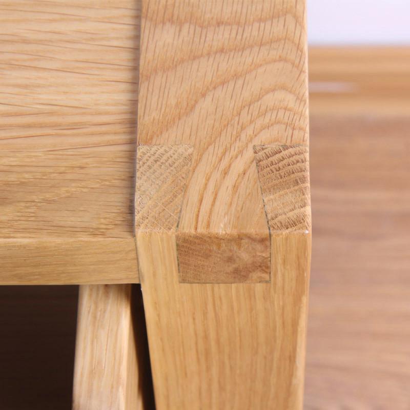 jbt/佳佰庭家具白橡木实木床头柜橡木床头柜简约斗柜抽屉柜mo63 pu