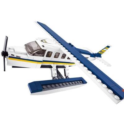 儿童玩具积木 水上飞机