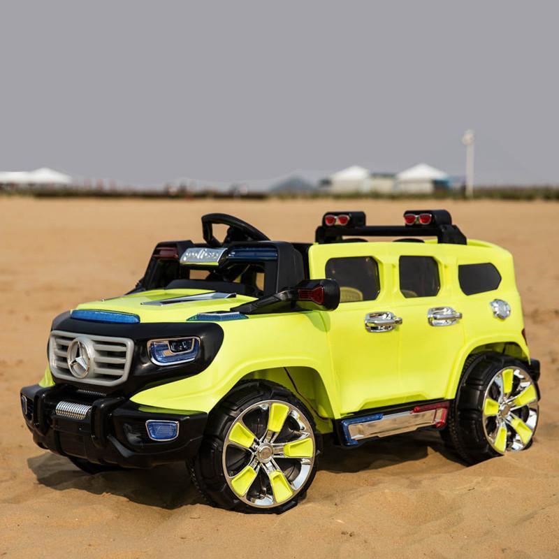 乐逗 儿童电动车四轮奔驰越野车双驱双座带遥控缓启动玩具汽车高档