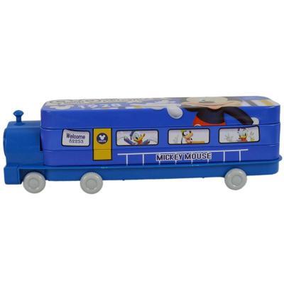 迪士尼儿童可爱火车头文具盒铁盒