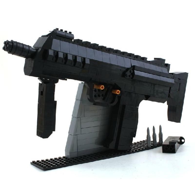 奧斯尼樂高式拼裝積木cscf穿越火線游戲武器超級軍備 沖鋒槍mp7超越小
