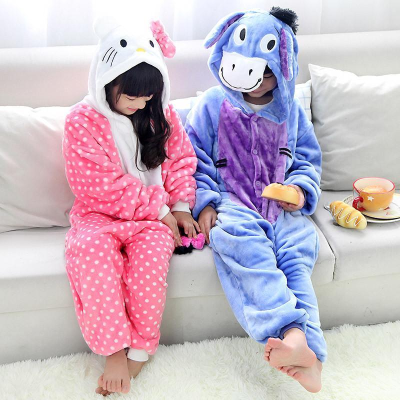 可爱卡通动物儿童水貂绒连体睡衣 法兰绒男童女童中厚保暖内衣5616 11