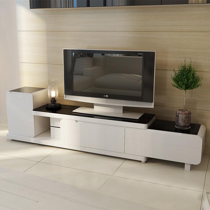 【理佳电视柜】理佳 黑白色简约电视柜客厅长方形