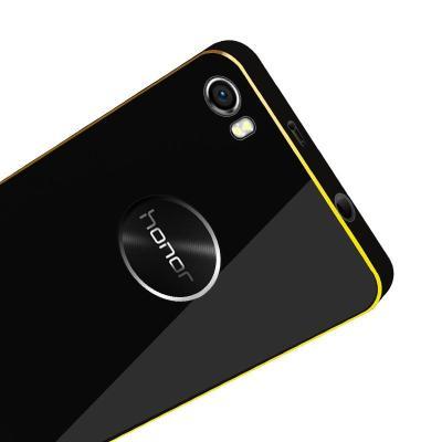 luoya络亚适用于华为荣耀6金属边框后盖/手机壳 保护套 黑色