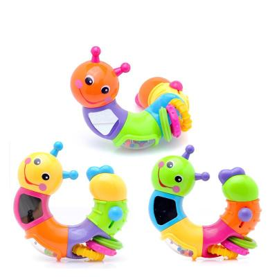 汇乐玩具可爱小虫子786b婴儿手摇铃宝宝早教益智玩具0