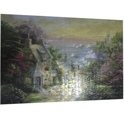 意特朗 白卡1000片拼图成人益智拼图玩具 风景画 装饰画 海边庭园