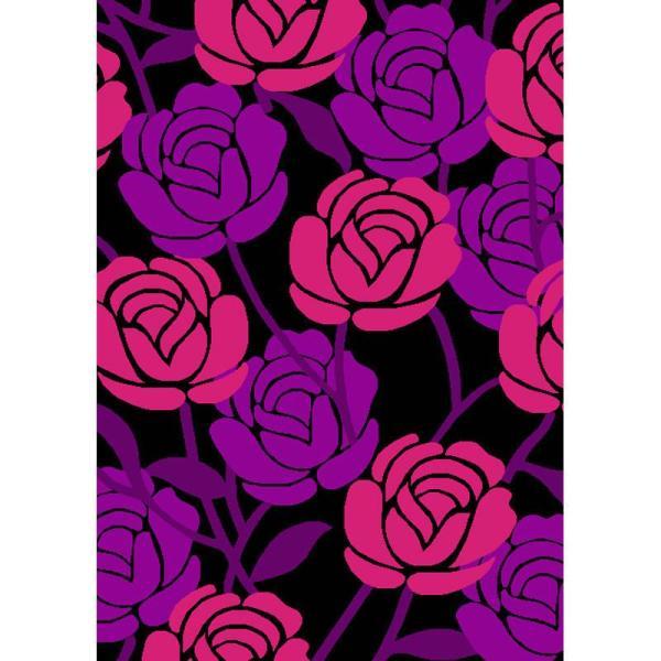 【华德(hd)地毯】华德紫色梦幻雕花地毯wkmg301-1