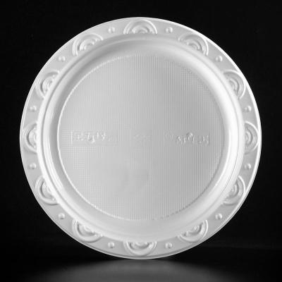 9寸一次性塑料圆盘子 水果盘快餐盘碟子餐具 蛋糕生鲜托盘 500个商品