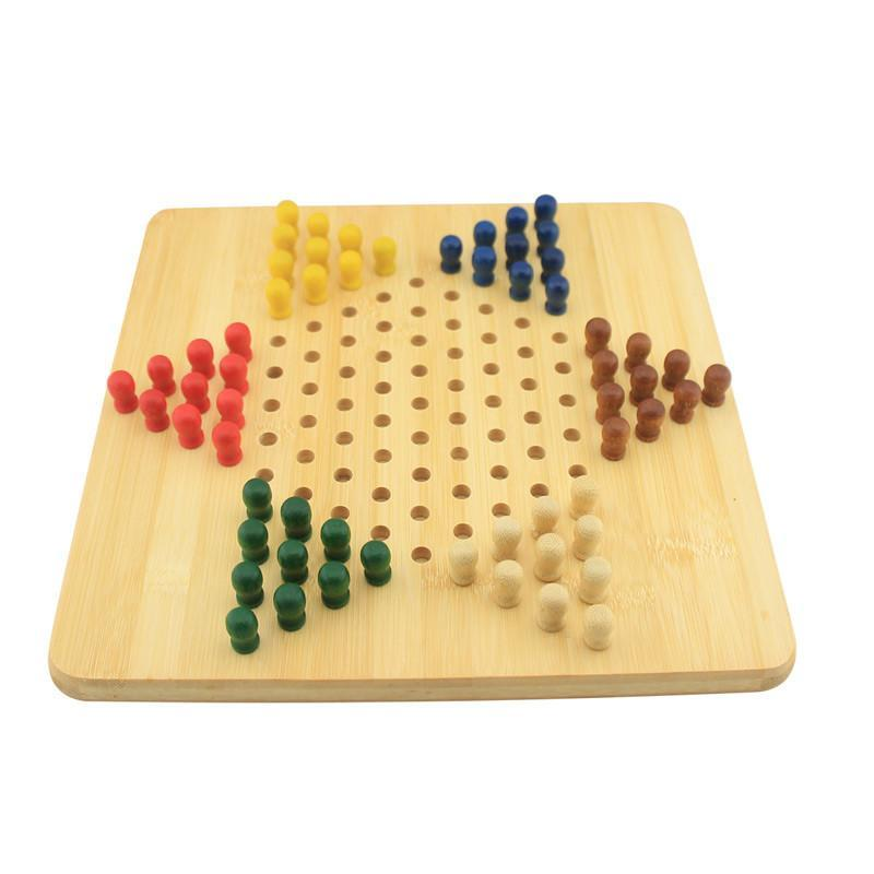 米米智玩 棋类玩具木质跳跳棋中国象棋二合一 跳跳棋桌面游戏棋盘图片